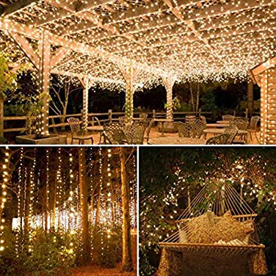 Todens 12m 100 LEDs Solar Copper Wire Lights Waterproof Decorative String Light for Outdoor Garden : Garden & Outdoor