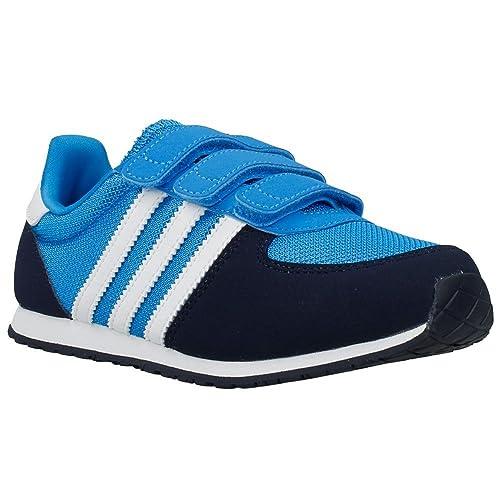 adidas Adistar Racer CF J M17117, Baskets Mixte Enfant, Bleu