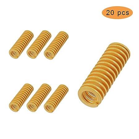 Huture 20 piezas Die Springs Resortes de Compresión Mecánica 8mm ...
