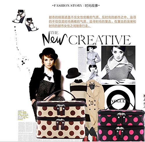 Filles Sac blanc De Femmes Portable Maquillage Marron Gaorui Toillete Organisateur Cosmetiques 4S5pqnEw