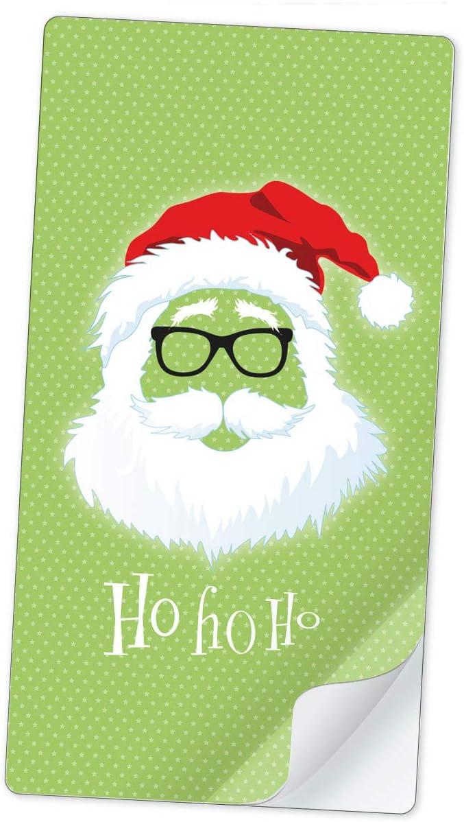 10 STICKER RECHTECKIG NIKOLAUS WEIHNACHTSMANN HO HO HO KREIDETAFEL LOOK SCHWARZ /• Etiketten Aufkleber Weihnachten Geschenkverpackung Verpackung Banderole /• 96 mm x 50,8 mm matt