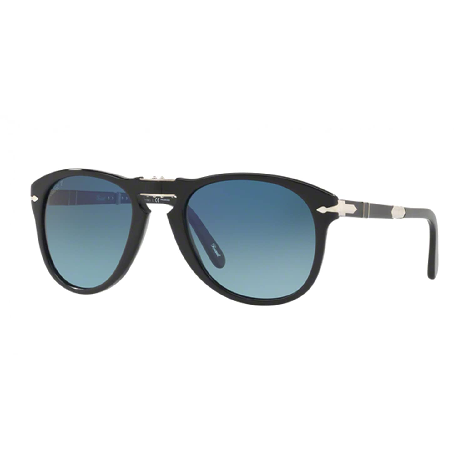 012774aa93 Amazon.com  Persol Steve McQueen Limited Edition PO 0714SM Black Blue  Shaded 54 21 140 Men Sunglasses  Clothing