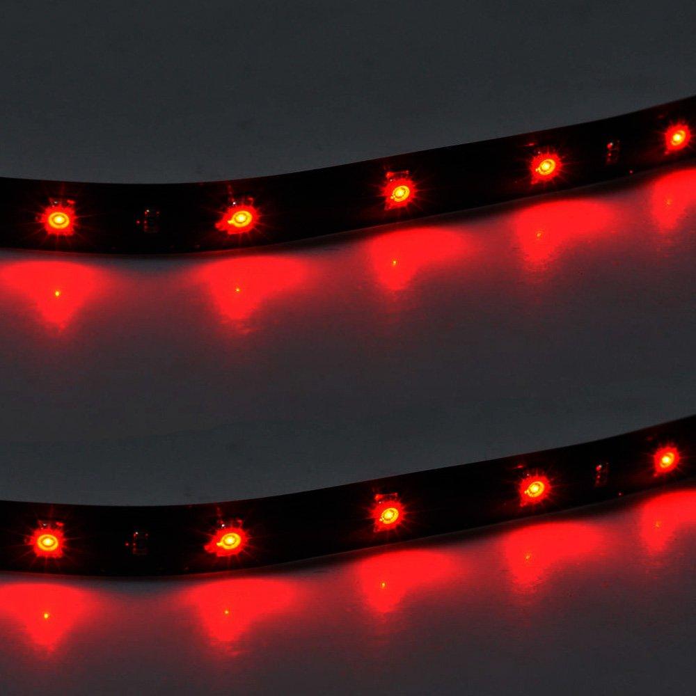 E Support/™ 4 X 30cm 15 LED Auto KFZ Wasserdicht LED Lichtleiste Balken SMD Streifen Leiste 12V Wei/ß