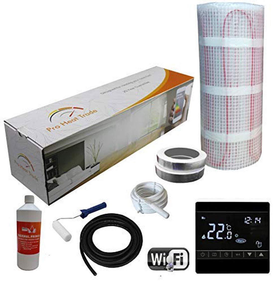 3.0m/² Kit de Calefacci/ón El/éctrica Caja Amarilla Por Suelo Radiante de 200 W Nassboards Premium Pro Termostato Blanco WiFi Inal/ámbrico