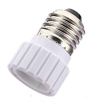 Casquillo Adaptador Conversor E27 a GU10 para bombilla lampara de Luz LED Halogena y de Bajo Consumo - 2386: Amazon.es: Informática
