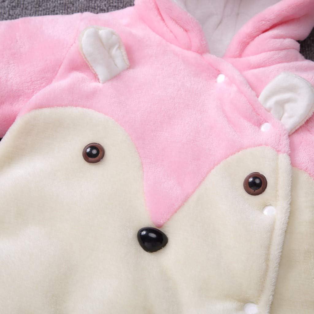 Babykleidung Neugeborene Winter,Covermason Neugeborenes Baby M/ädchen Junge Overall Mit Kapuzen Cartoon B/är Samt Spielanzug Strampler Kleider