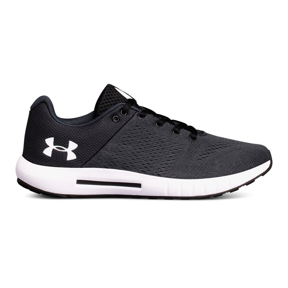 Under Armour womens Micro G Pursuit Running Shoe, Anthracite (100)/Black, 11