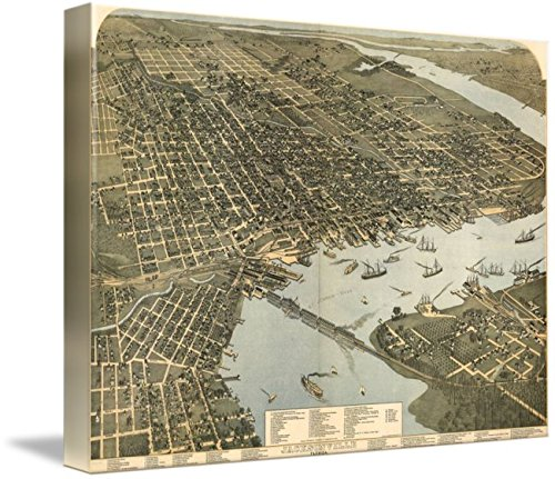 Imagekind Wall Art Print  Vintage  Map Of Jacksonville