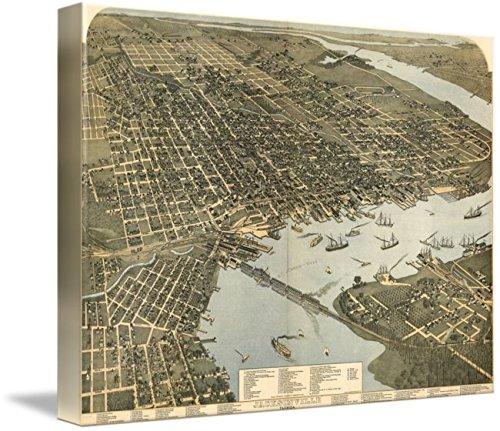 Imagekind Wall Art Print Vintage Map Of Jacksonville