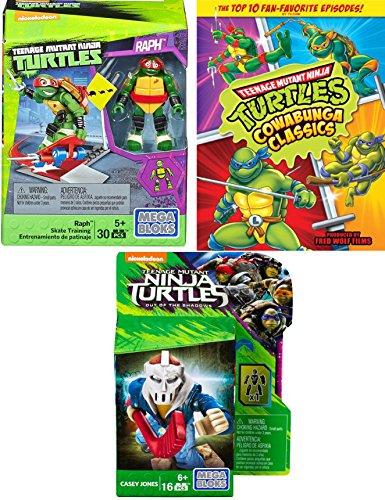 Teenage Mutant Ninja Turtles: 10 Episode Cartoon TMNT DVD & Raph character Skate Training Pack with Casey Jones Figure