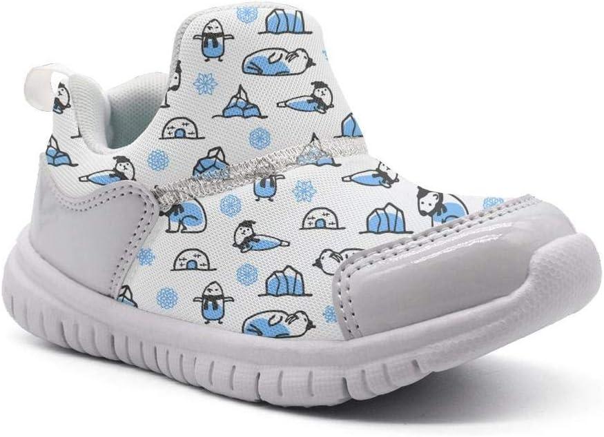 ONEYUAN Children Winter Polar Bear White Kid Casual Lightweight Sport Shoes Sneakers Running Shoes