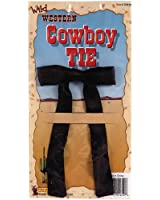 Black Western String Tie - One Size
