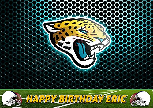 Jacksonville Jaguars NFL Edible Cake Image Topper Personalized Icing Sugar Paper A4 Sheet Edible Frosting Photo Cake 1/4 ~ Best Quality Edible Image for cake