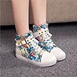 Hemlock Teen Flat Canvas Shoes Lace up Shoes High-Top Shipping Sandals Sneakers Low Heel Ankle Boots