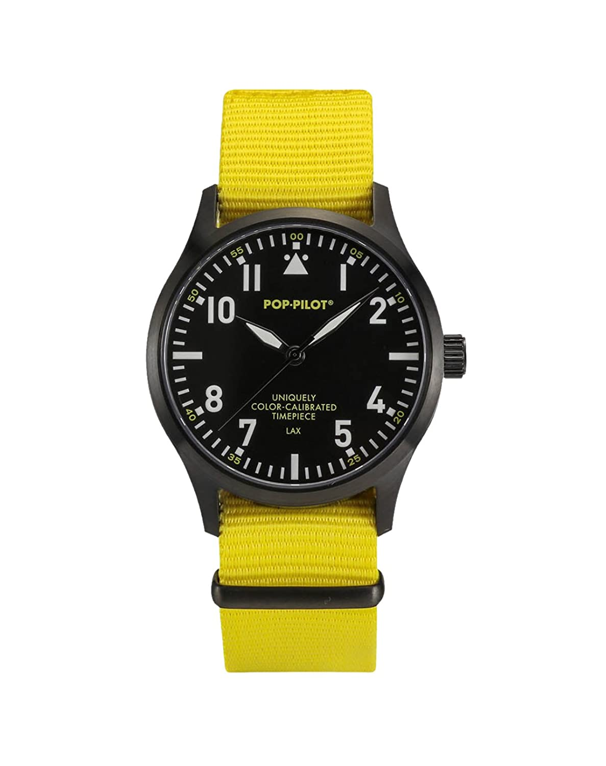 Pop-Pilot Unisex-Armbanduhr LAX Analog Quarz Nylon P4260362631083