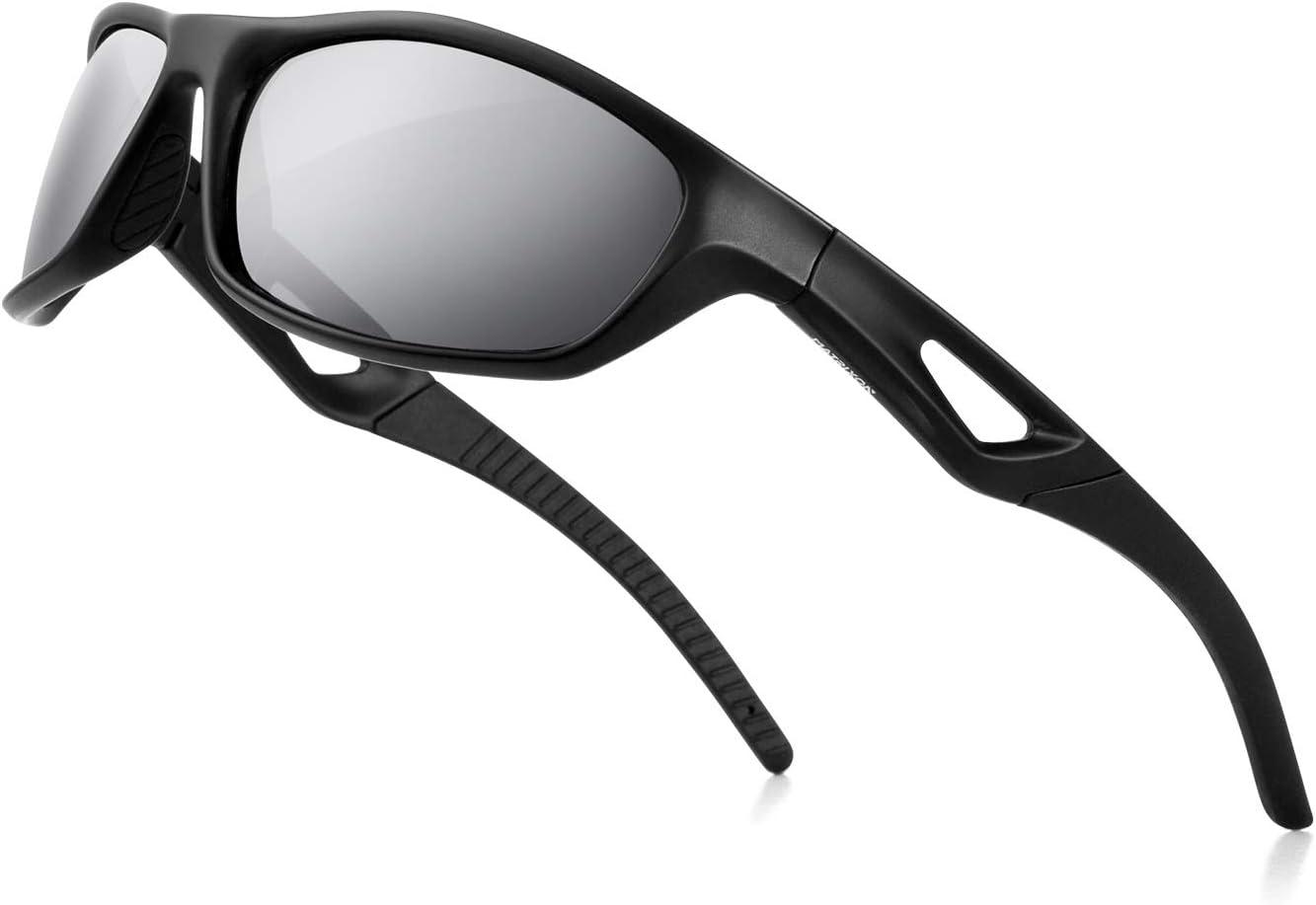 MATRIXON Polarized Sports Sunglasses Cycling Sun Glasses for Men Women Running Driving Golf Baseball