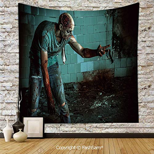 Tapestry Wall Blanket Wall Decor Dead Man in Old Abandoned House Nightmare Bloody Fantasy Art Scenery Home Decorations for Bedroom(W51xL59) -