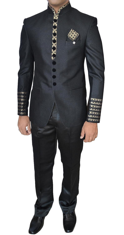 cc99851ad4 INMONARCH Mens Black 4 Pc Wedding Jodhpuri Suit TX11245Z Men