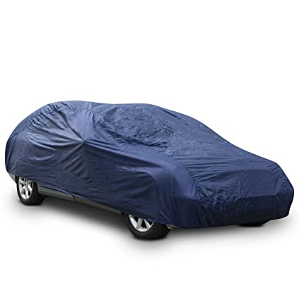 Outdoor Car Storage >> Navaris Full Exterior Car Cover Weatherproof Protection Against Rain Water Dust Wind For Outdoor Vehicle Storage In Summer Or Winter Size L