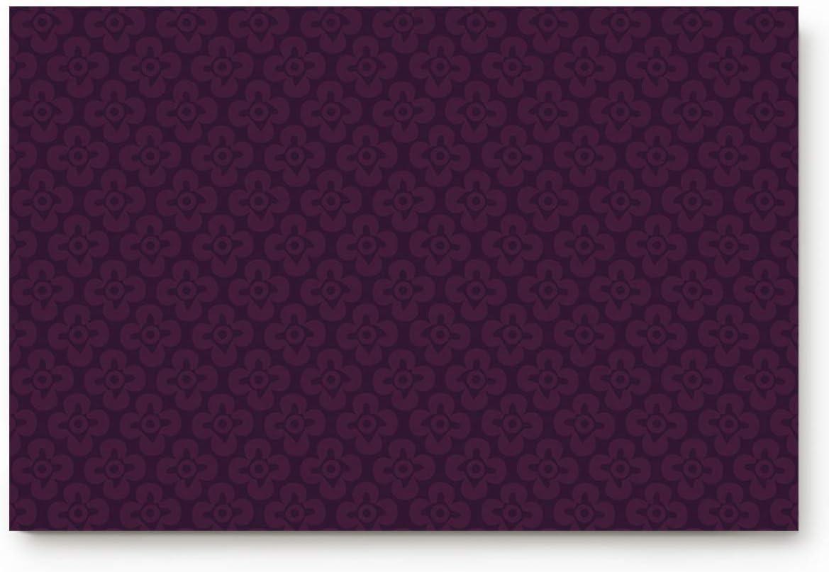 Miss Sweetheart Welcome Entrance Doormat for Indoor-Retro Purple Flower Pattern,Luxury Non-Slip Rubber Cushioned Floor Mat for Front Door/Bedroom/Living Room Decor