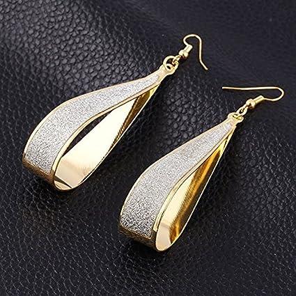 2106db9e5 Amazon.com: Gold Silver Crystal Scrub Water Drop Hook Dangle Earrings  Fashion Women Party (gold): Home & Kitchen