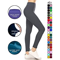 Leggings Depot Yoga Waist REG/Plus Women's Buttery Soft Solid Leggings