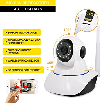 601ffb70039 V380 720P Hd 1 Million Pixels Surveillance Cameras Hd£¬  Amazon.co ...