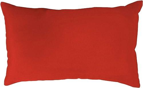 BrylaneHome 20 X 13 Lumbar Pillow Outdoor Pillow, Red