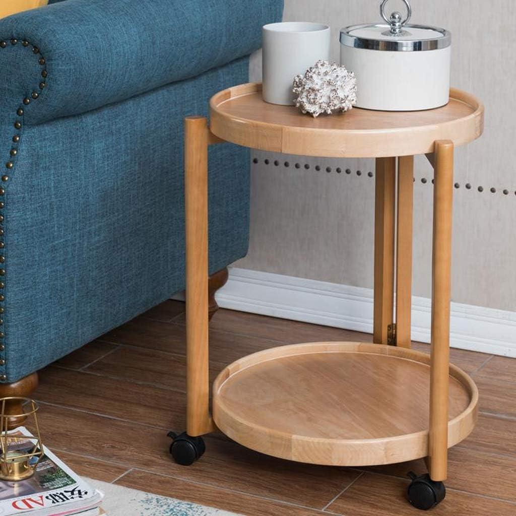 Lage Prijs Te Koop MBZL bijzettafel, koffietafel, rond hout, 2 diers-sofa-zijkanten met legplank voor kantoormeubels Wood Color 2YwNFip
