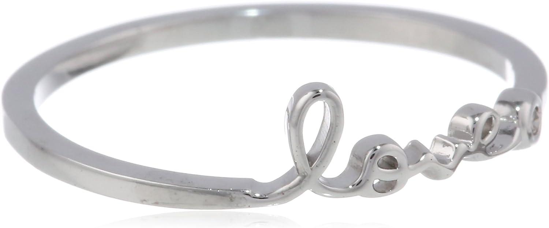 Amazon Com Syd By Se Love Ring With Diamond Bezel Jewelry