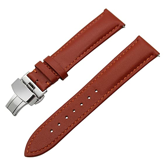 TRUMiRR 22mm Schnellspanner Armband Echtes Leder Uhrenarmband für Samsung Gear S3