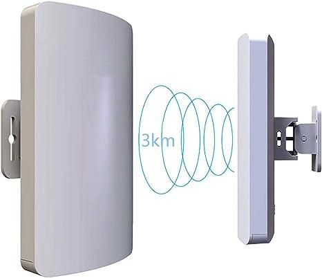 EJOYDUTY 5.8GHz y 2GHz Wireless Outdoor Ap/Client Bridge/CPE, Velocidad de transmisión de 300Mbps, Antena direccional, Gran Alcance, Punto a Punto, ...