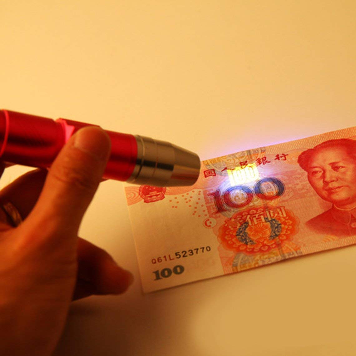 Mini LED Flashlight 365nm Inspection Lamp USB Charge UV Torch Light