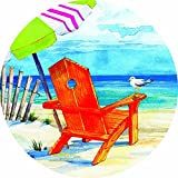 Accent Magnet-Beach Chair - Auto - Home - Kitchen -Yard -Six (6) Inch - Made in USA - Licensed , Copyrighted by Custom Decor Inc.