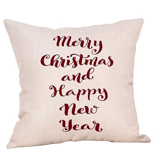 lonupazz algodón Lino Funda de Almohada Navidad Purpurina ...