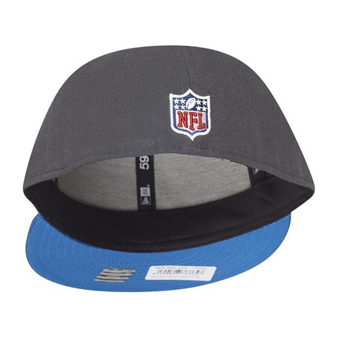 new era nfl detroit lions ballistic visor cap 59fifty fitted basecap 5950 mens at amazon mens clothing store - Lowprofilekopfteil