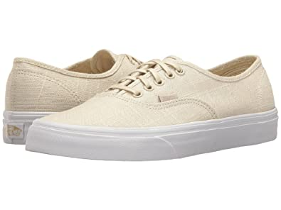 Vans Authentic Hemp Linen Turtledove True White Sneakers (3.5 Men s 5  Women s) 12431721a