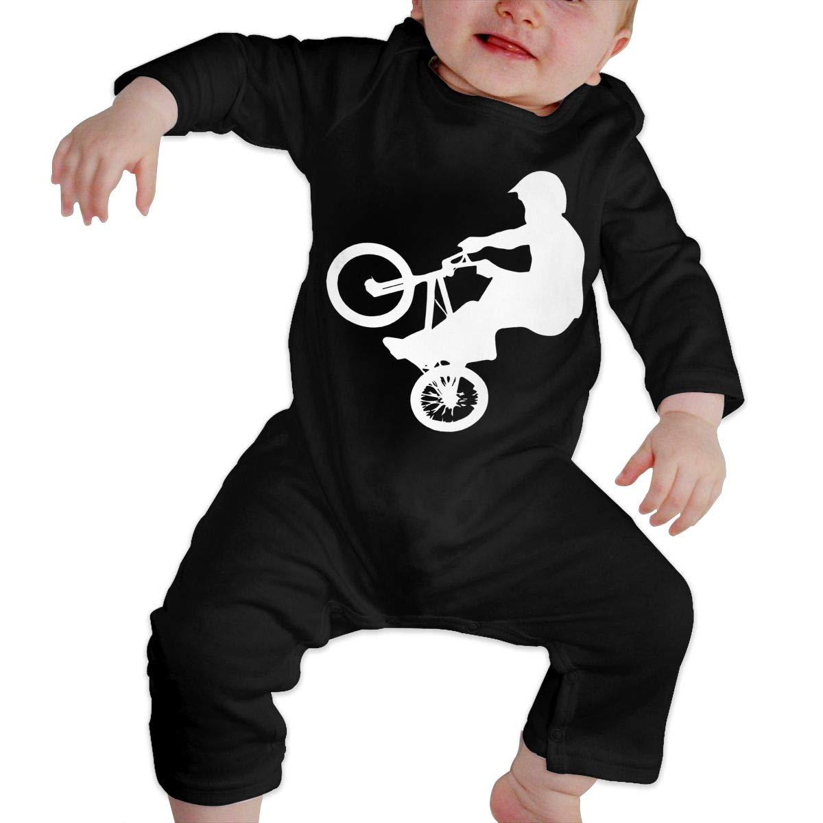 U99oi-9 Long Sleeve Cotton Bodysuit for Unisex Baby Soft BMX Crawler