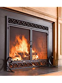 Shop amazon fireplace screens plow hearth scrollwork small fireplace screen teraionfo