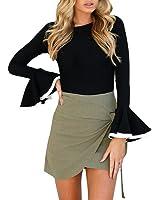 Ankola Tops, Fashion Women Ladies Long Flare Sleeve T-Shirts Casual Tunic Bell Blouse