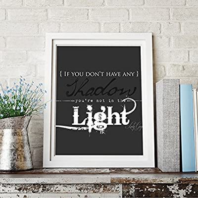 Lady Gaga Quote Inspirational Quote Wall Art Print Home Decor