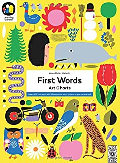 first words art charts learn 100 first words with 12 decorative prints to hang - The Learning Garden