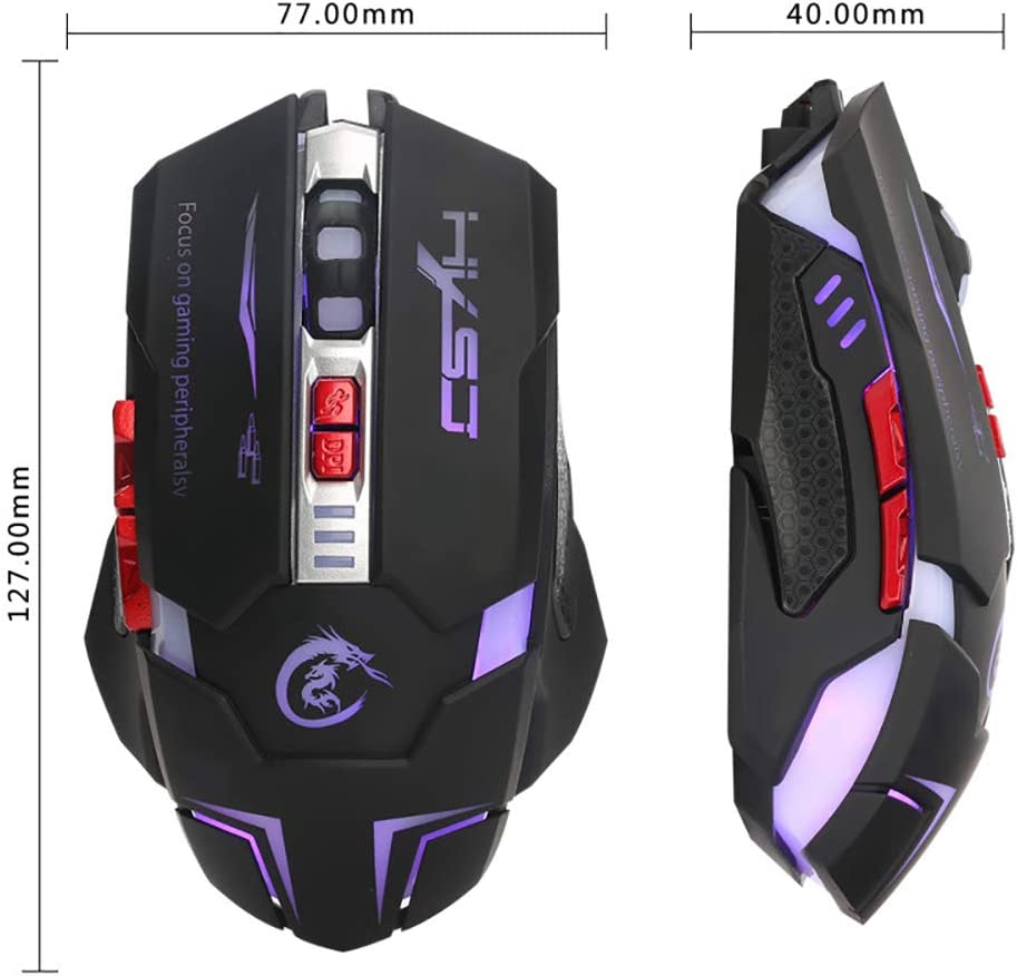 H600 Esports Game Mouse 7 Key Macro Programming Mouse Four Color Dimming Support Game Office Shortcut Key Settings