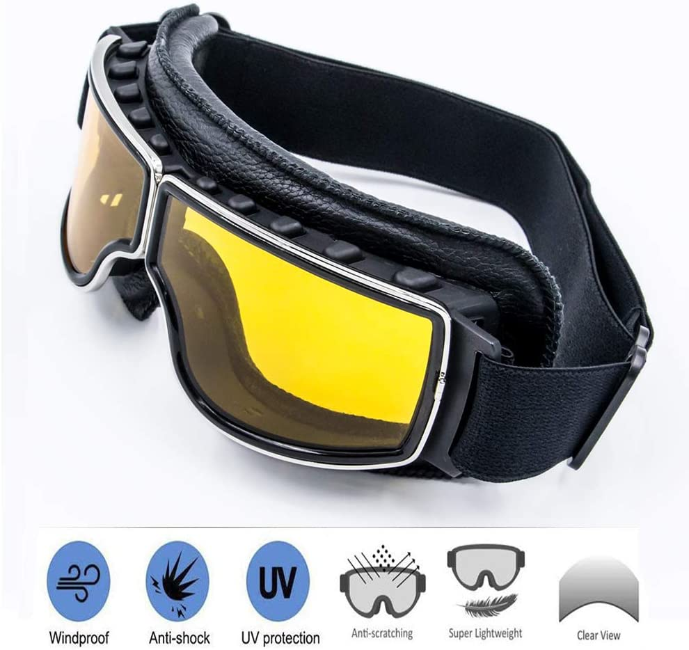 UV400 Windproof X400 Goggles Motorcycle Glasses For Outdoor Riding W//Y