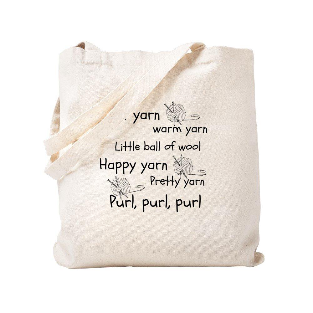CafePress – Soft Kitty For Knitters – ナチュラルキャンバストートバッグ、布ショッピングバッグ S ベージュ 1772068162DECC2 B0773T3Z8Y S