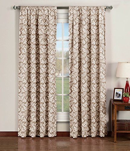 Window Elements Valencia Printed Cotton Extra Wide 104 x 96 in. Rod Pocket Curtain Panel Pair, (Window Covering Ideas)
