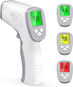 Gekka Non-Contact Infrared Thermometer with Fever Alarm LCD Display