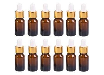 1789e2749619 Amazon.com : 12PCS 5 ml/0.17oz Refillable Empty Amber Glass Bottle ...