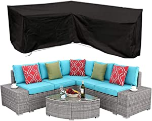 AKL Patio Cover, Large Outdoor Sectional Furniture Set Cover, Outdoor Sectional Furniture Cover Outdoor Sofa Cover L-Shaped Garden Couch Protector