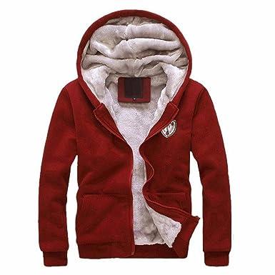 2PCS Hombres Abrigo chaqueta Conjunto,Yannerr invierno acolchado deportivo sudadera con capucha + pantalones top